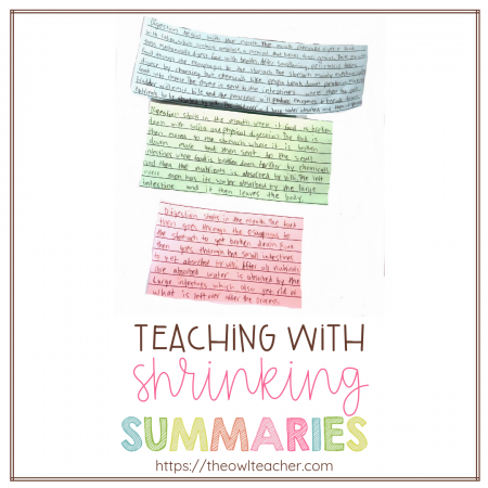 Teaching students the concept of summarizing in reading or any subject matter can be packed full of unrelated details. Check out this idea on how to get students to retell and write only the main idea!