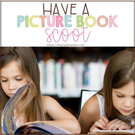 Engage your students during reading with a picture book scoot! This is a fun reading activity that will help students practice important reading skills and get them reading picture books! Learn all about this activity by clicking through to this post!
