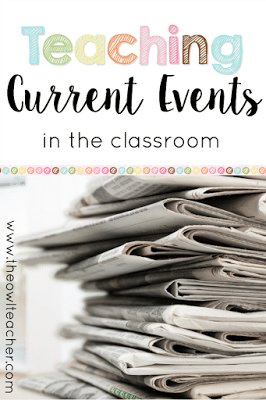 Use current events in your elementary classroom to teach social studies, reading, and writing skills. Students practice summarizing the article, citing their sources, and providing their opinion.