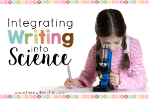 Integrating Writing into Science to make teaching easier and to save time in the elementary classroom. Here are 5 ideas on how to integrate writing into science.