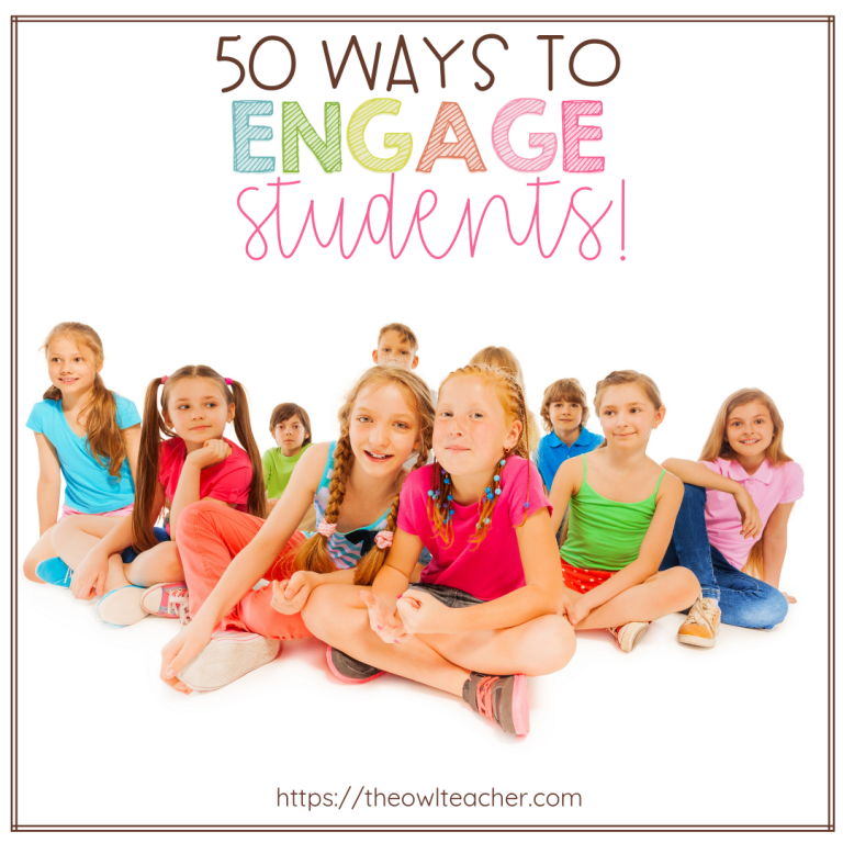 Make learning engaging with these 50 teaching tips, ideas, and techniques to engage students in your elementary classroom.