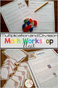 This is 15 days of fully detailed lesson plans in the math workshop/guided math model teaching the strategies of both multiplication and division per common core. It is packed full of all the resources you need including detailed scripted lesson plans, games for math centers, worksheets, vocabulary word wall posters, and much more to save you time in the classroom while teaching a quality math workshop unit that matches common core!