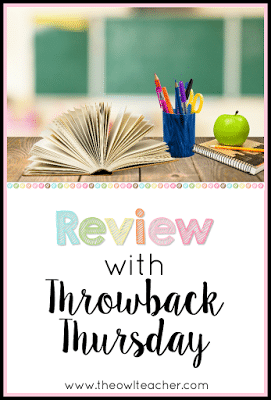 Spiral review with Throwback Thursday or Flashback Friday for any subject in your elementary classroom to increase your retention rate!