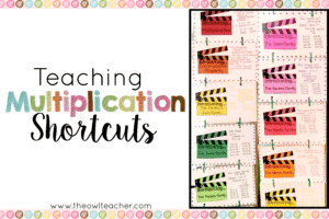 It's important for students to know and understand their multiplication facts and multiplication strategies, but it's equally as important for students to know multiplication shortcuts. This blog post describes how I went about teaching multiplication shortcuts to my students, so read the full post to get all of the details!