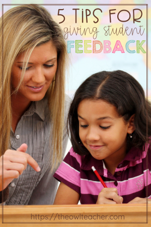 Giving students feedback does not mean only giving critiques; it also means letting students know what they're doing well. Get five tips in this post.