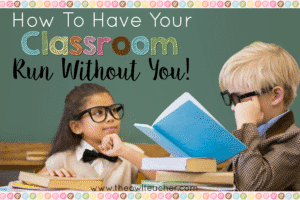 Classroom management is critical all classrooms! Check out these tips and ideas on how you can teach your classroom to manage itself efficiently and effectively without you!