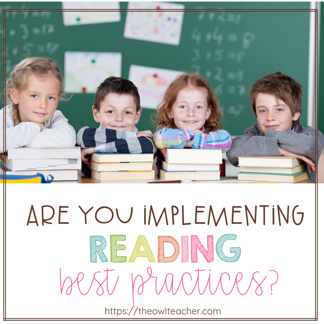 Today, more than ever, it's important for teachers to be utilizing best practices in their classrooms. This is especially true for reading, where the reading best practices have evolved quite a bit and take on a while new approach from the old practices. This post describes each approach and the differences between the two, so click through to read more.