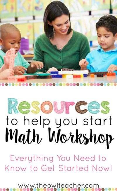 This post provides tips and ideas on how you can start math workshop in your elementary classroom today! It also explains what is the difference between guided math and math workshop, how to make math centers easy, and so much more!