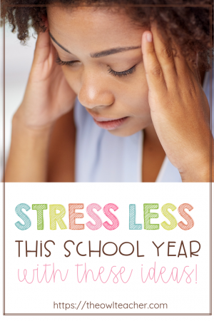 Teaching is stressful - captain obvious, right?! But, the stress of teaching really takes its toll on a lot of teachers. I've compiled many tips to help you stress less this school year. Get all of them in this post!