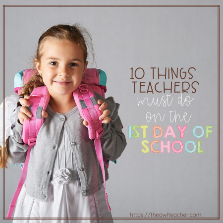 Rules, procedures, and expectations must always be taught on the 1st day of school - but you should be doing other things on that first day, too! Read this list of 10 things every teacher must do on the 1st day of school to make that day more engaging and calming for your students.