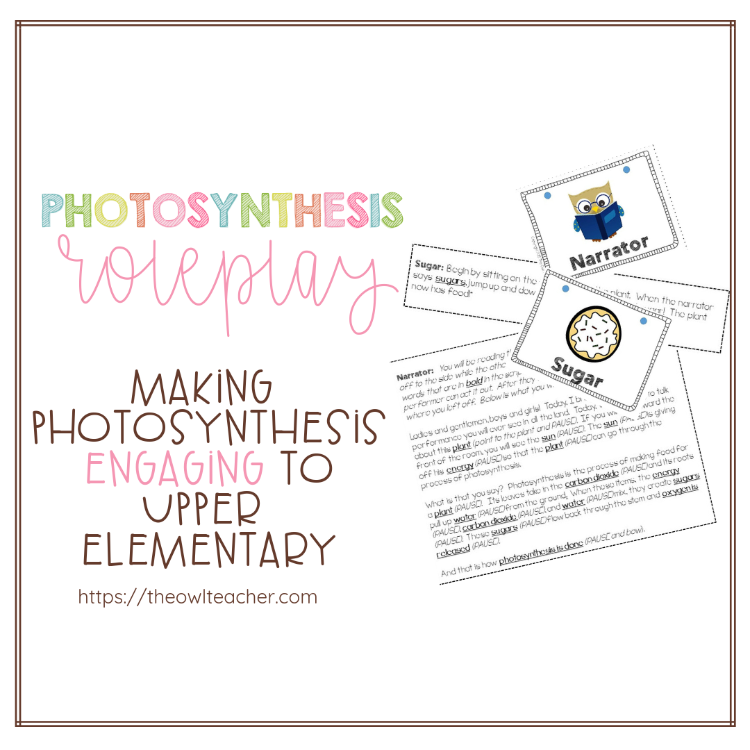 Photosynthesis is often a challenging topic to teach students, because it's hard to conceptualize and understand. Starting off your plants unit with a role playing activity about photosynthesis is the perfect way to get students engaged and to help them visualize how photosynthesis works!