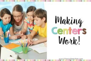 You can make centers work in your classroom by reading these few tips about management, setting them up and how to make students accountable.