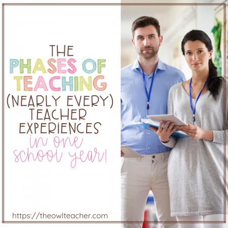 Did you know that there are phases of teaching? A recent study showed five phases of teaching that new teachers tend to experience, but in my opinion I think that nearly every teacher experiences these phases of teaching most school years! Read about the phases and what happens during each one, and use the information to help mentor yourself or another teacher who is struggling.