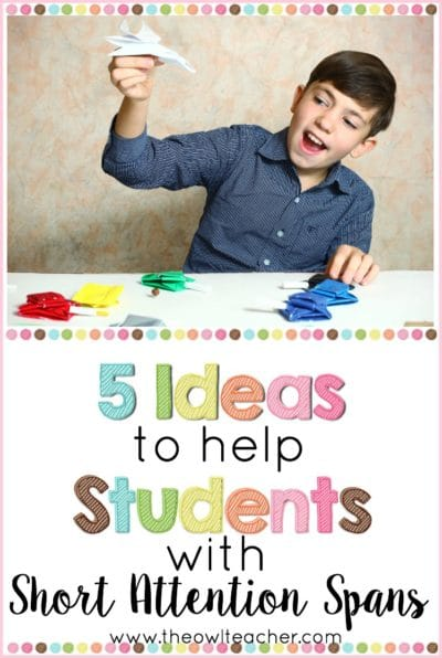 Help students with short attention spans in your classroom with these strategies and ideas to make learning easier with ADD and ADHD disabilities.
