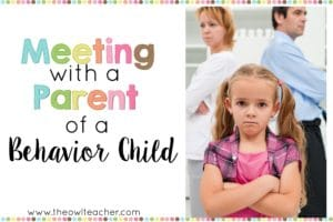 Meeting with the parent of a behavior child does not have to be scary with these tips and ideas! Check out this post with step-by-step help!