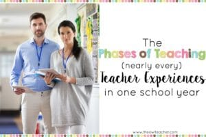 Nearly every teacher goes through these phases of teaching in a school year. You are not alone and it's perfectly normal to feel this way as the year progresses! Read about these phases of teaching!