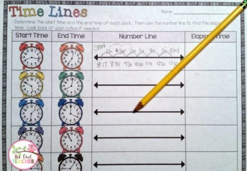 Teaching elapsed time 3rd grade worksheets
