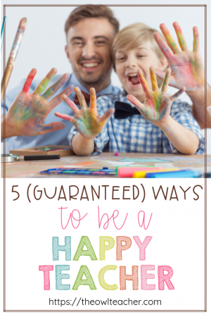 Being a happy teacher might feel totally elusive some days--maybe a lot of days. You're struggling with classroom management, you have to deal with an angry parent, or your administrator gave you a lot of constructive criticism from your last evaluation that's making you feel self-conscious. However, it's time to let all of those things go. This post contains five guaranteed ways that you let go of classroom stress and become a happy teacher. It can happen with practice!