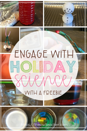 Engage your students this Christmas with holiday science! Check out these hands-on science experiment activities that your students will love - plus get a FREEBIE!
