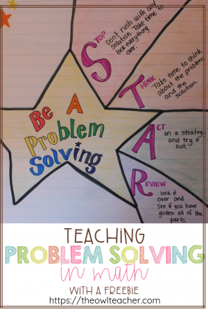 Problem solving tends to REALLY throw students for a loop when they're first introduced to it. Up until this point, math has been numbers, but now, math is numbers and words. I discuss four important steps I take in teaching problem solving, and I provide you with examples as I go. You can also check out my math workshop problem solving unit for third grade!