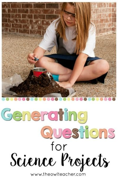 Generating questions for science projects using question stems is a great way to build critical thinking skills and perfect for differentiating instruction! Click through to read a few different types of question stems you can use in the classroom and to get tips on how to best utilize the practice of generating questions with students!