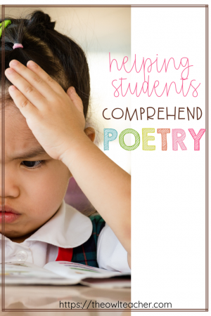 Help your students comprehend poetry with these close reading ideas and steps that are sure to engage and help even your struggling readers of any grade! There are four steps to work through with your students to make poetry accessible and fun. Click through to learn more!