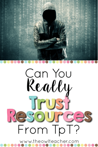 Can you really trust resources on Teachers Pay Teachers? Which is better the publishers or TpT? This post addresses those concerns and puts it bluntly!