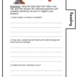 Volcanoes Science Investigation Booklet Printable & Digital