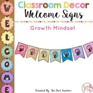 Growth Mindset Classroom Decor BUNDLE {EDITABLE SET}