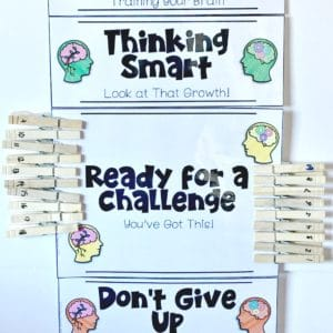 Growth Mindset Behavior Clip Chart Board {EDITABLE too!}