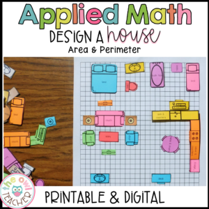 Design My House PBL Math | Area and Perimeter Activity Digital Included