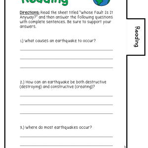 Earthquakes Science Investigation Booklet Printable & Digital
