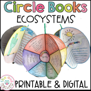 Ecosystem Activity | Circle Book Craftivity Printable & Digital (Google)