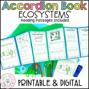 Ecosystems and Biomes Activity | Foldable Accordion Printable & Digital (Google)
