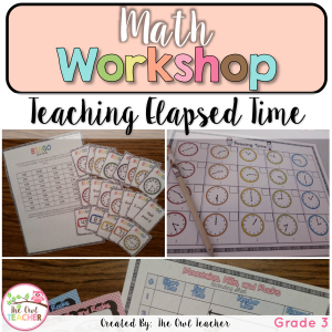 Math Workshop Elapsed Time Unit
