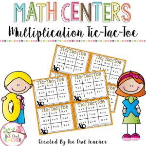 Tic Tac Toe Multiplication Facts Task Card Game