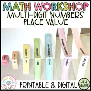 Place Value and Rounding Math Workshop Unit for 4th grade