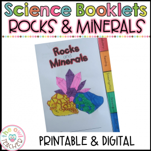 Rocks & Minerals Investigation Booklet Printable & Digital