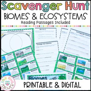 Ecosystems Scavenger Hunt Printable & Digital (Google)