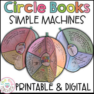 Simple Machines Circle Book Craftivity Printable & Digital (Google)
