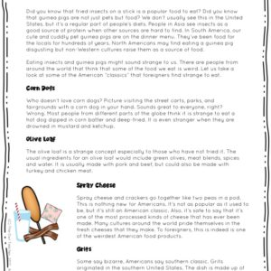 Eating Bugs Nonfiction Reading Passages Printable & Digital (Google)