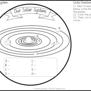 Solar Systems and Planets | Circle Book Craftivity Printable & Digital (Google)