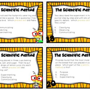 Scientific Method and Process Skills Task Cards