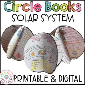 Solar Systems and Planets | Circle Book Craftivity Printable & Digital (Google)
