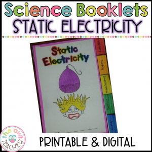 Static Electricity Investigation Booklet Printable & Digital
