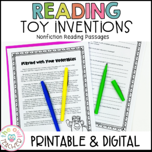Toy Inventions Nonfiction Reading Passages Printable & Digital (Google)
