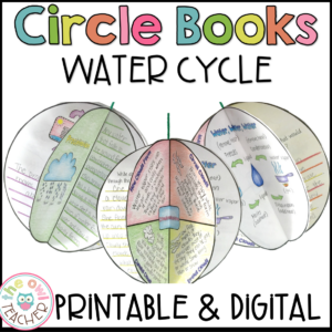 Water Cycle Activities | Circle Book Printable and Digital (Google)
