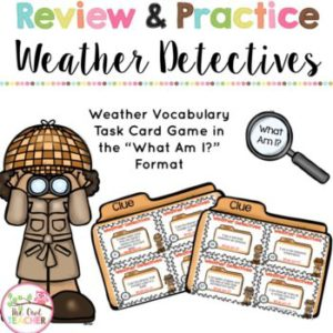 Weather Detectives Vocabulary Game