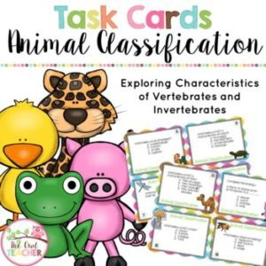 Animal Classification (Vertebrate/Invertebrate) Bundle
