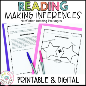 Inference Reading Practice Printables & Digital (Google)